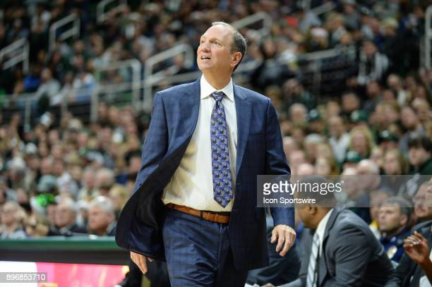 Long Beach State 49ers head coach Dan Monson looks on during a college basketball game between Michigan State and Long Beach State on December 21 at...