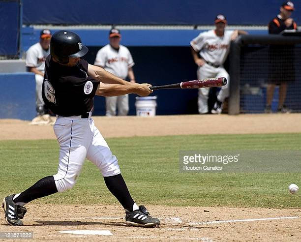 Long Beach State Dirtbags infielder Matt Cline st the plate as they defeated the visiting University of Pacific Tigers 9 to 3 on April 30, 2006 at...