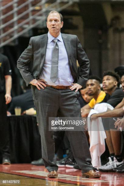 Long Beach State Head Coach Dan Monson looks on during a Big West Conference Quarterfinals game between Long Beach State and Hawaii on March 9 2017...