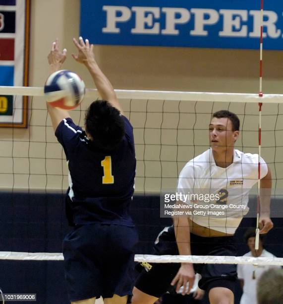 4/28/05 Long Beach State's Paul Lotman gets a shot past Santa Barbara's Bart Kowalski in their 30 defeat of Santa Barbara during their Mountain...