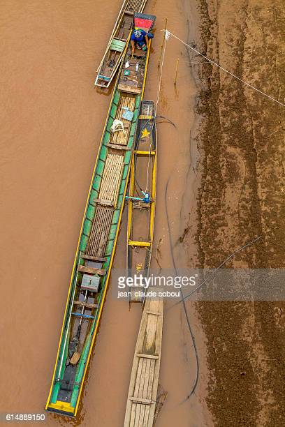 long boat on mekong river (laos)