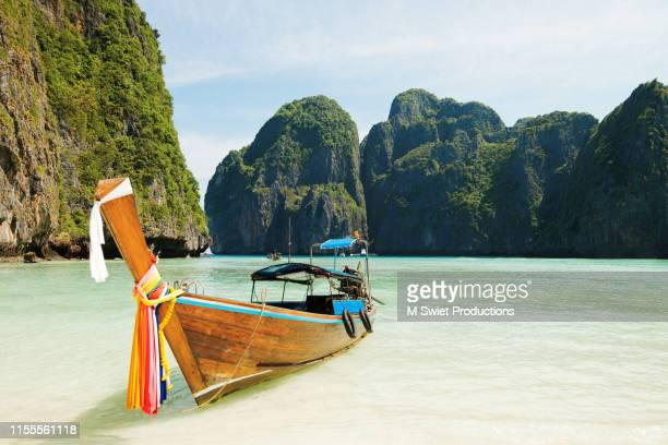 long boat thailand - thailand stock pictures, royalty-free photos & images