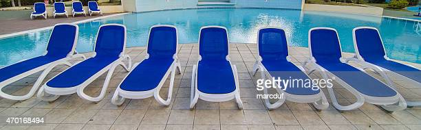 long chairs - chaise longue stock photos and pictures