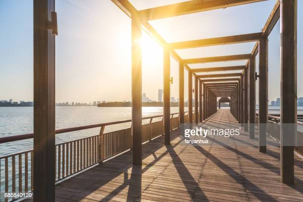 long corridor by the Jinji lake
