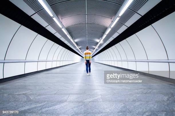 long corridor - symmetry stock pictures, royalty-free photos & images