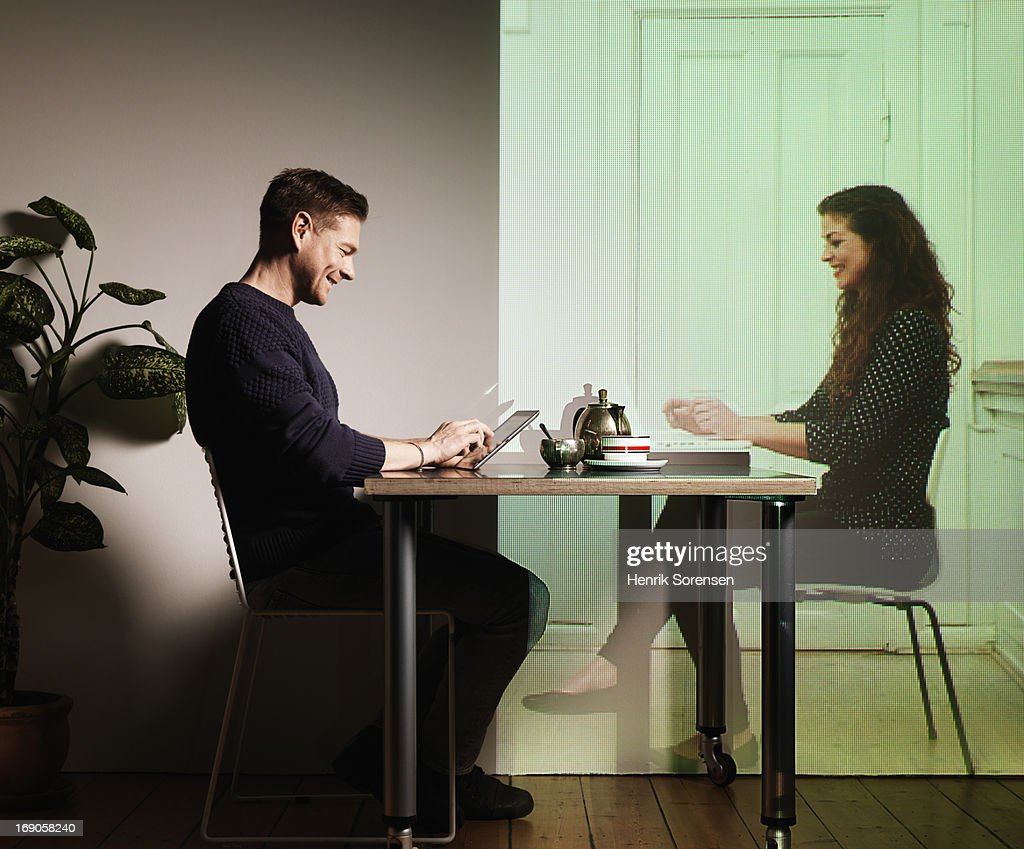 Long distance relationship : Foto de stock