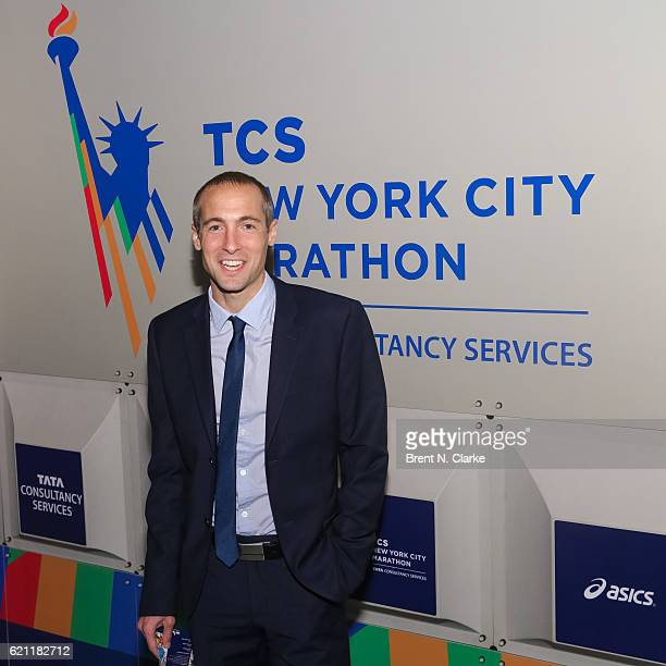 Long distance runner Dathan Ritzenhein attends the 2016 New York Road Runners Night of Champions held at the NYRR Media Center at the TCS New York...
