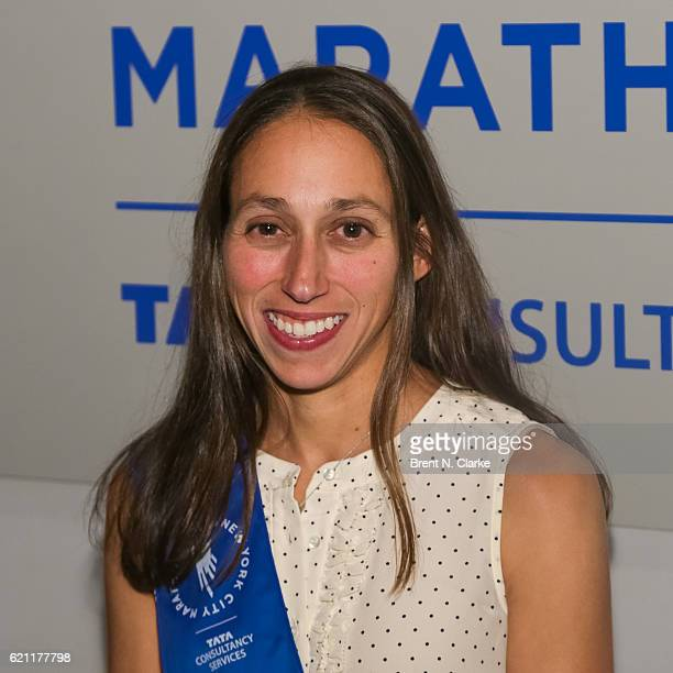 Long distance runner/Grand Marshal Desiree Linden attends the 2016 New York Road Runners Night of Champions held at the NYRR Media Center at the TCS...