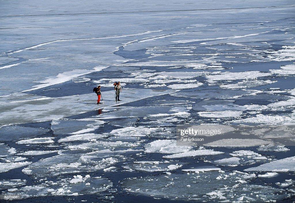 Long distance skater Sweden. : Stock Photo
