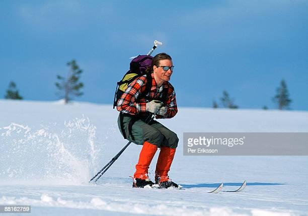 A long distance skier Sweden.