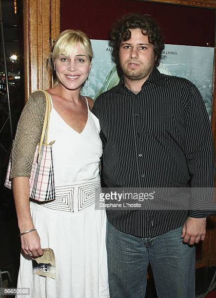 Long distance swimmer Susie Maroney and boyfriend Robert Daniels attend the Australian premiere of 'North Country' at the State Theatre on January 23...