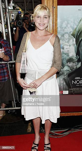 Long distance swimmer Susie Maroney attends the Australian premiere of 'North Country' at the State Theatre on January 23 2006 in Sydney Australia