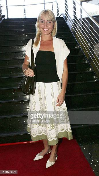 Long distance swimmer Susie Maroney attends the opening night of Edgley International's 'Drumstruck' at the Showroom Theatre Star City Casino on...