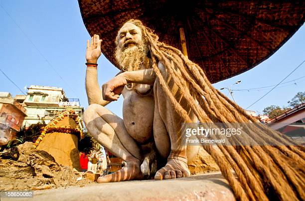 Long dreadlocks sign of many Shivasadhus