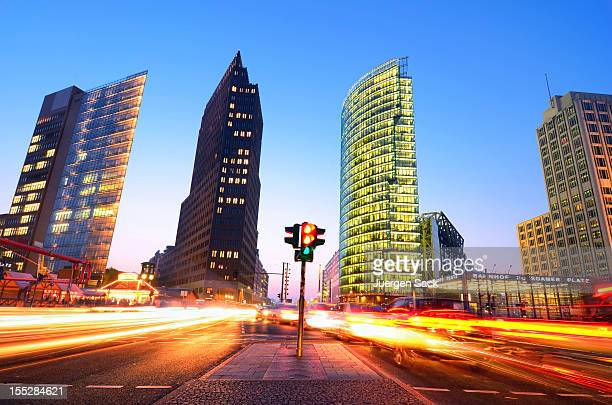 Long exposure capture of rush hour Berlin, Germany