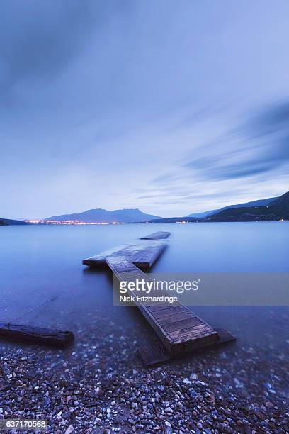 A long exposure of a dock at Sunnybrae, Shuswap Lake, British Columbia, Canada