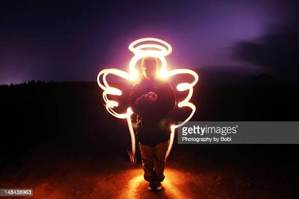 Long exposure of angel