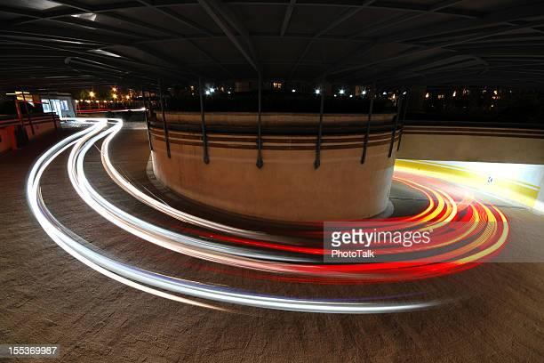 Langzeitbelichtung der Auto Licht-XL