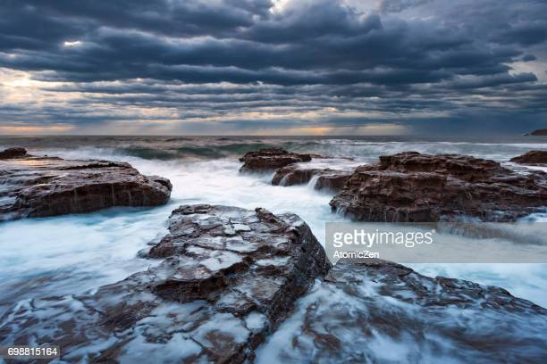 Long exposure of Kiama surf beach, South of Sydney, Australia