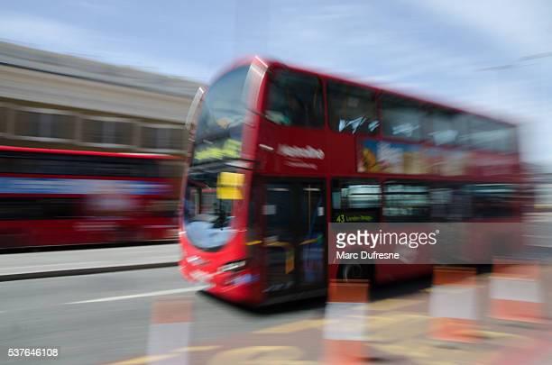 Long exposure of London Double Decker bus
