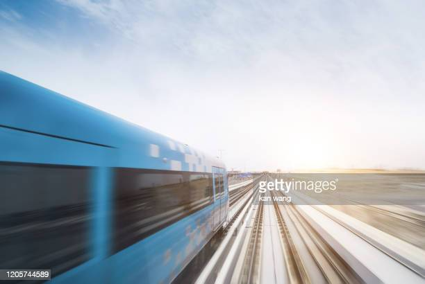 long exposure of railroad tracks in tunnel - stock photo - wang he stock pictures, royalty-free photos & images