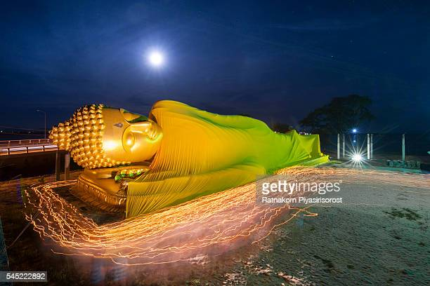 Long Exposure of Reclining Buddha statue in Lam Poh Temple.