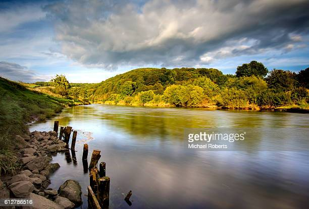 Long exposure of the river Wye at Bigsweir near Monmouth, Wales.