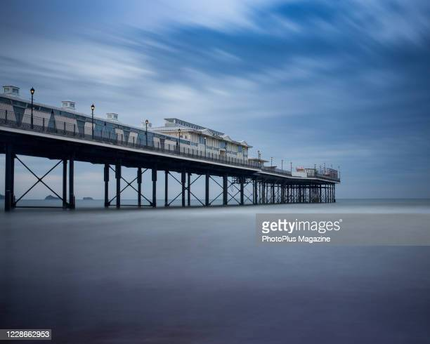 Long exposure of the sea around Paignton Pier in south west England, taken on June 18, 2013.