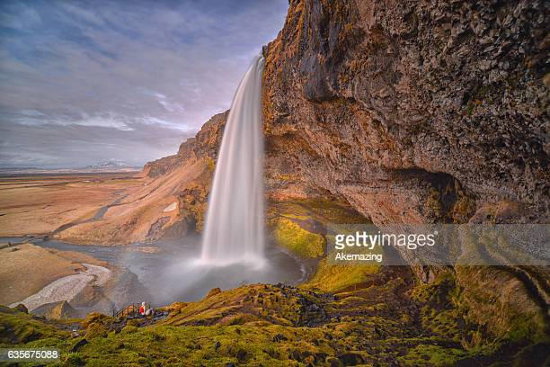 Long Exposure of the Seljalandsfoss , Iceland.