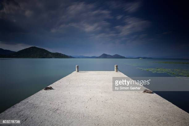 Long Exposure Photograph of a Jetty on Lake Skadar in Montenegro