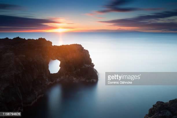 long exposure pic at lava´s seascape - dähncke fotografías e imágenes de stock