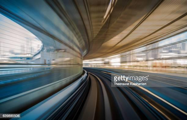 long exposure shot from a moving train - lång exponeringstid bildbanksfoton och bilder