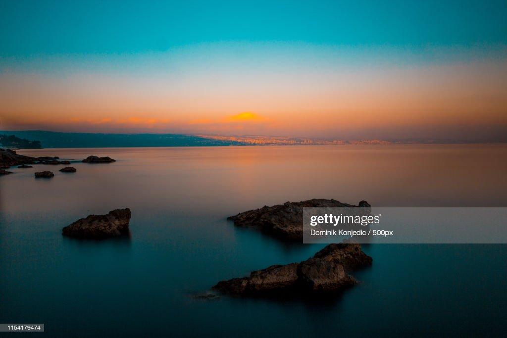 Long Exposure Sunset Shot : Stock Photo