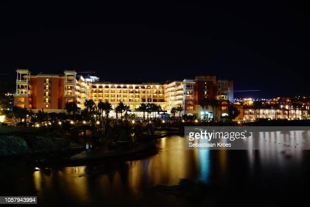 Long Exposure view Westin Dragonara Complex, Night, St Julians, Malta