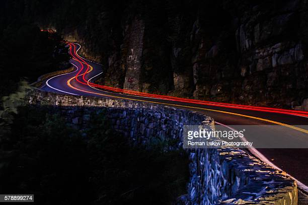 Long Exposure Winding Road