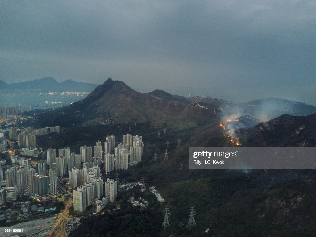 Wildfires Break Out In Hong Kong