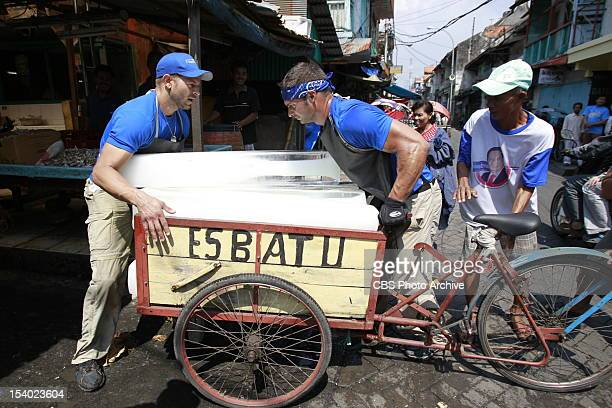 """""""Long Hair, Don't Care """" --In Detour A, Chippendale Friends Jaymes and James must deliver ten blocks of ice to the Pasar Ikan Pabean fish market in..."""