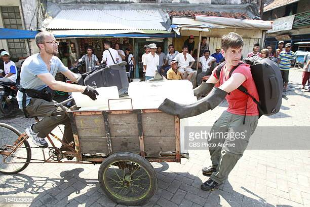 """""""Long Hair, Don't Care """" --In Detour A, Goat Farmers/Life Partners Josh and Brent must deliver ten blocks of ice to the Pasar Ikan Pabean fish market..."""