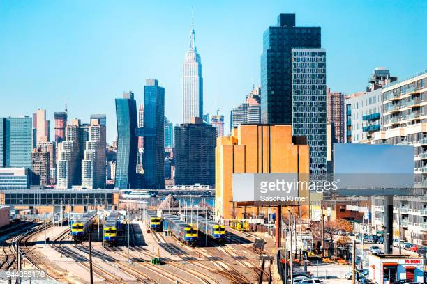 long island city buildings, new york - long island city stock photos and pictures