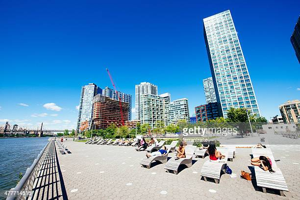 long island city queens new york - long island city stock photos and pictures