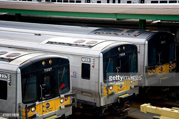 Long Island Railroad Passenger Trains parked, West Side Railroad Yard