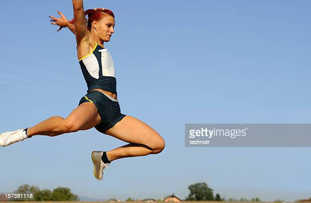 long jump - long jump stock pictures, royalty-free photos & images