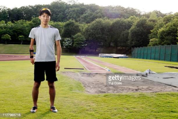 long jumper athlete of japan para athlete training in progress - extra long ストックフォトと画像