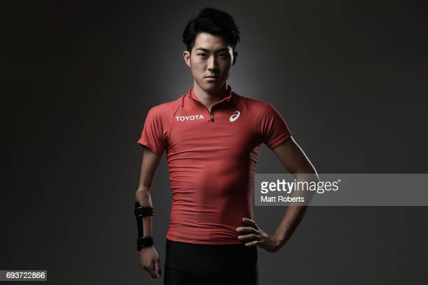 Long Jumper Hajimu Ashida of Japan poses for photograph during a portrait session on June 8 2017 in Tokyo Japan