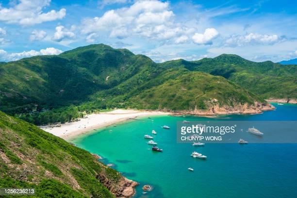 ロングケビーチパノラマ、シクンイーストカントリーパーク、香港 - ジオパーク ストックフォトと画像