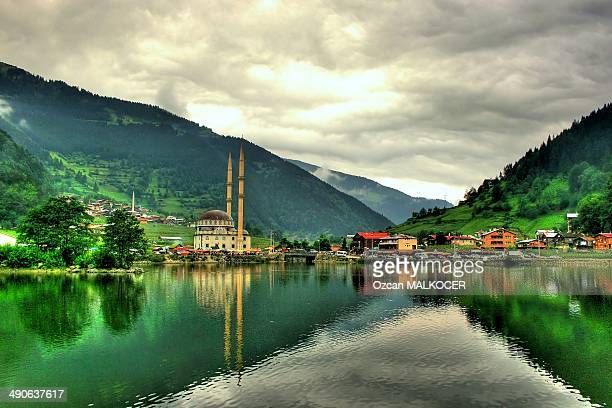 long lake (uzungol) - çaykara - trabzon stock photos and pictures