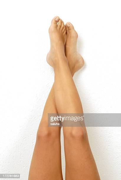 long legs - beautiful female feet stock photos and pictures