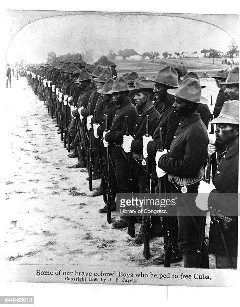 A long line of African American soldiers who fought in the SpanishAmerican War to evict Spain from Cuba and prepare Cuba for American business...