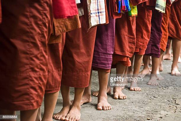 long line of monks - luisapuccini stock-fotos und bilder