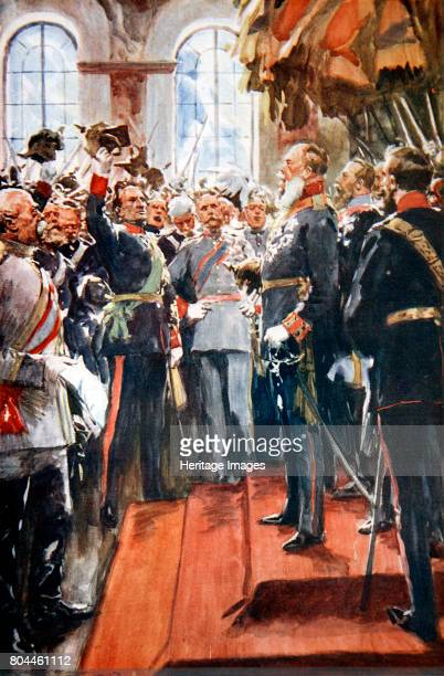 Long Live his Imperial Majesty Emperor William I' 1913 Wilhelm I King of Prussia from 1861 was proclaimed the first Emperor of Germany in the Hall of...